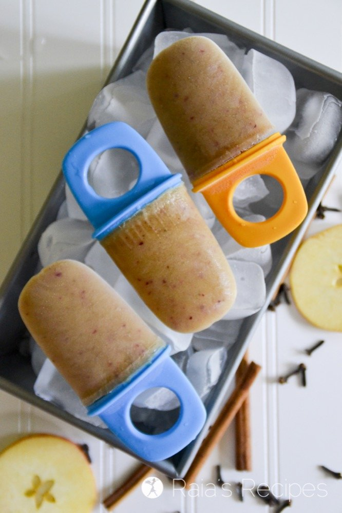 These gluten-free, vegan Apple Pie Popsicles are a healthy, kid-friendly way to celebrate apples and summer.