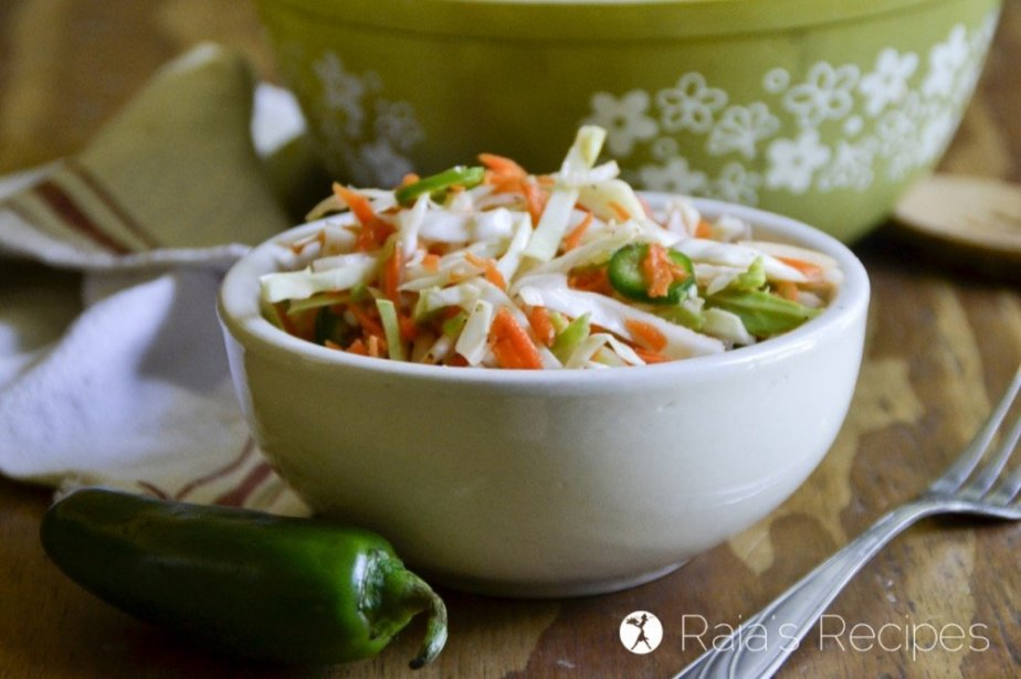 Whether you're paleo, Whole30, vegan, AIP, or just hungry, this easy Spicy Curtido Coleslaw will be a delicious addition to your meal.