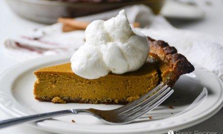 Grain-Free, Honey-Sweetened Pumpkin Pie