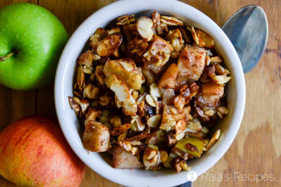 Almond Walnut Apple Crisp 1