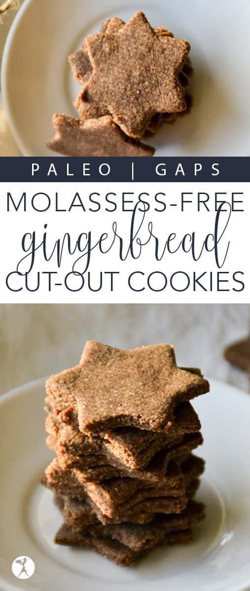 Love gingerbread, but can't have molasses? You can enjoy that holiday favorite again with these Molasses-Free Gingerbread Cutout Cookies!