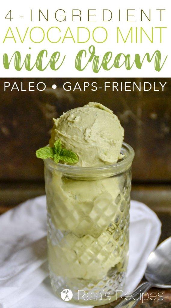 4-Ingredient Avocado Mint Nice Cream
