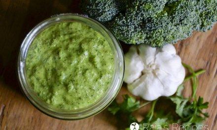 Paleo & Whole30 Broccoli Chimichurri Sauce