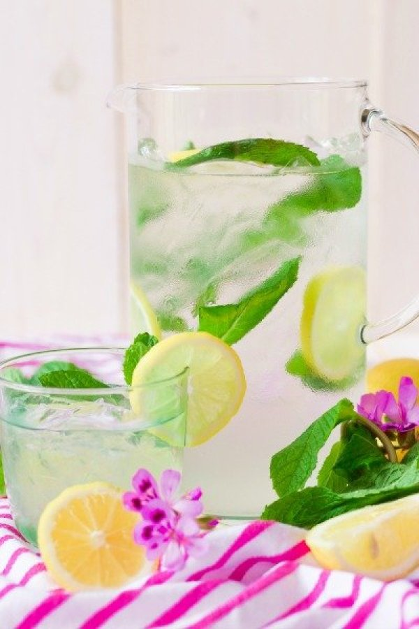 Delicious Paleo Summer Drinks Mint Lemonade