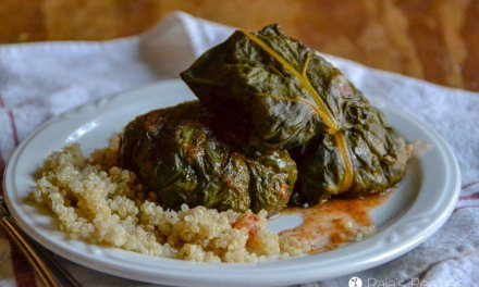 Quinoa & Beef Stuffed Chard in the Instant Pot