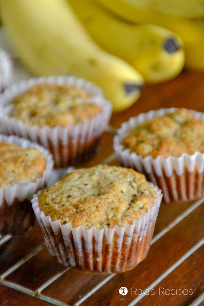 Banana Lemon Chia Seed Muffins 7