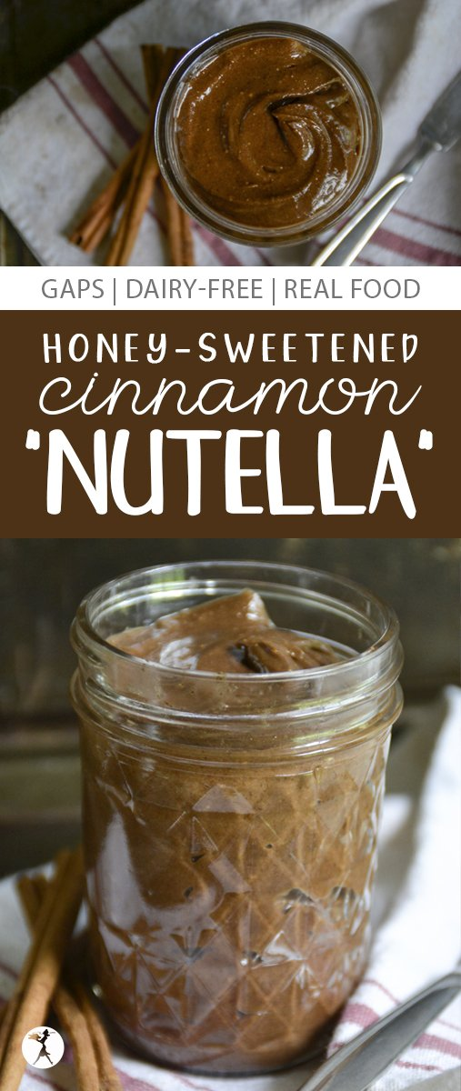 "With no refined sugars, this Honey-Sweetened Cinnamon ""Nutella"" is a great, healthy option for spreading on toast, waffles, apples... whatever!"