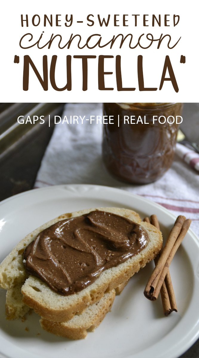 "Honey-Sweetened Cinnamon ""Nutella"""