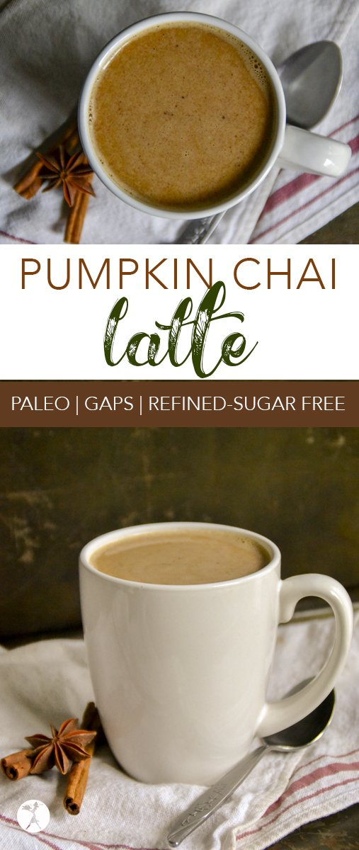 Comforting, warm, and healthy, this paleo and refined-sugar freePumpkin Chai Latteis the perfect way to begin a chilly day.