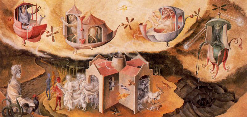 Creación del mundo o microcosmos, Remedios Varo, 1958