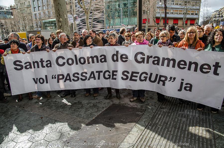 Santa Coloma por las ViesSegures. Foto: Paco Freire