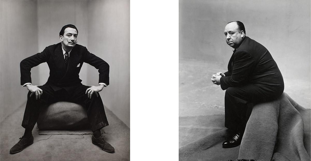 Izq: Salvador Dalí. Der: Alfred Hitchcock