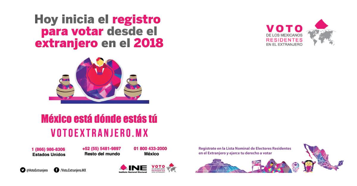 Continúa el registro para poder votar desde el extranjero en las elecciones mexicanas de 2018
