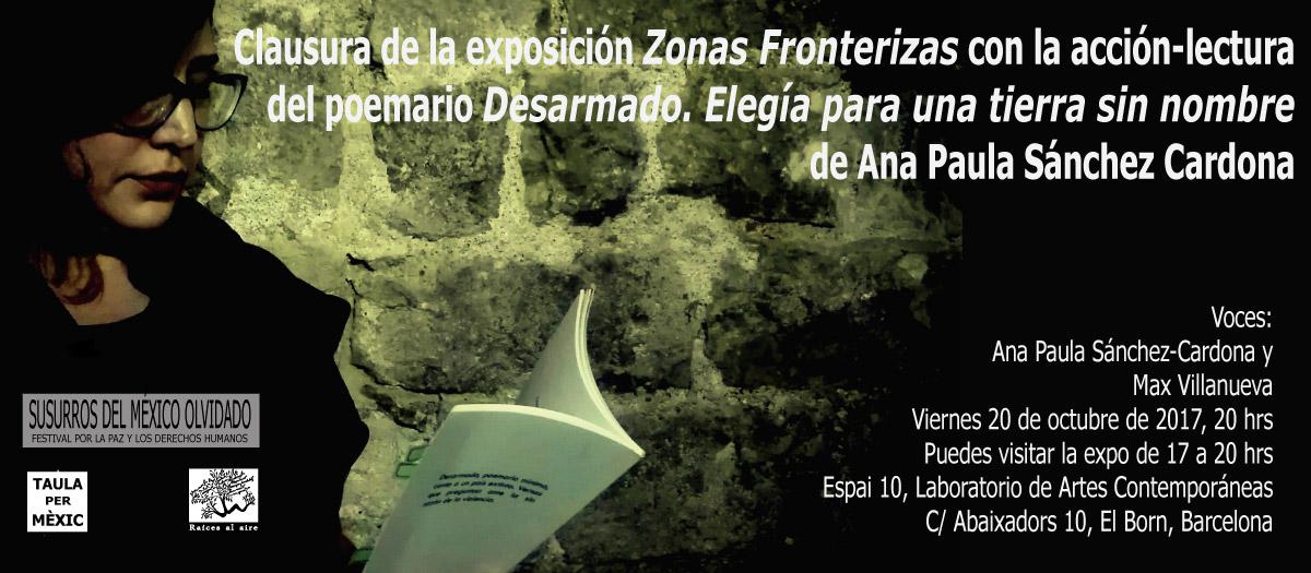 Clausura de Zonas Fronterizas con lectura de poemario