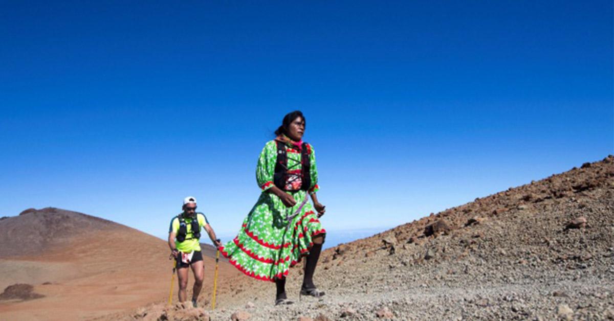 La corredora rarámuri Lorena Ramírez Hernández ganó el bronce en el ultramaratón de Tenerife