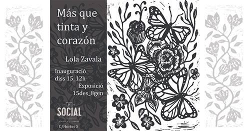 """Expo: """"Más que tinta y corazón"""" de Lola Zavala"""