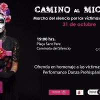 Marcha del silencio por las víctimas de feminicidio
