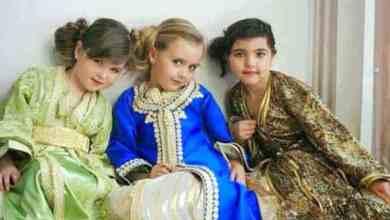 صورة جديد موديلات القفطان المغربي للبنات الصغار