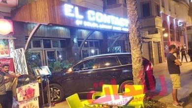 صورة مخمور يقتحم حانة ليلية بسيارته في كورنيش طنجة.