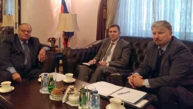صورة سماوي يلتقي السفير الروسي لبحث المشاركة الروسية فيمهرجان جرش بدورته الـ 35
