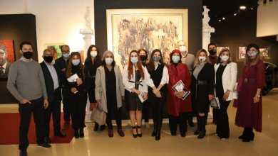 """صورة افتتاح المعرض التشكيلي """"ومضة"""" بقاعة Living 4 ART بالدار البيضاء"""