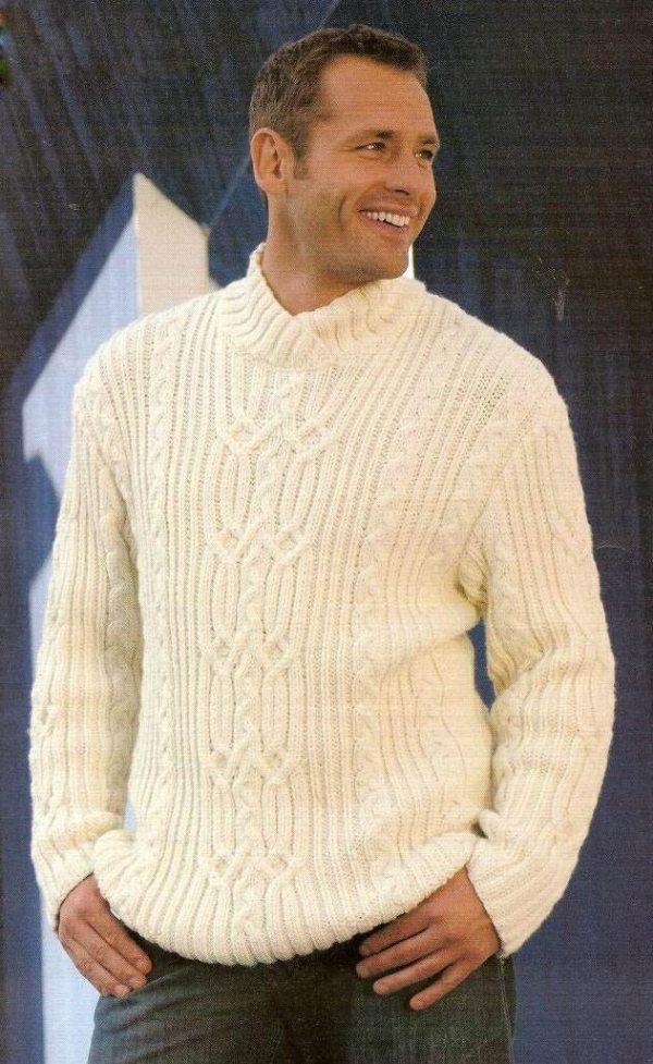 Вязание спицами для мужчин модные модели 2016 года с описанием