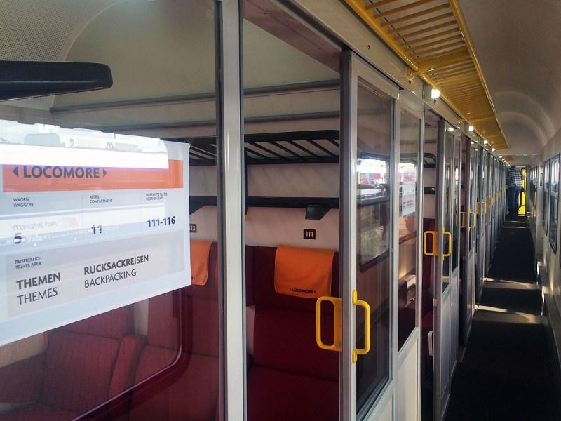 inside Locomore coach