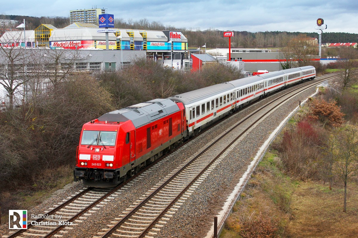 [DE / Expert] The IC train between Gotha and Gera in action