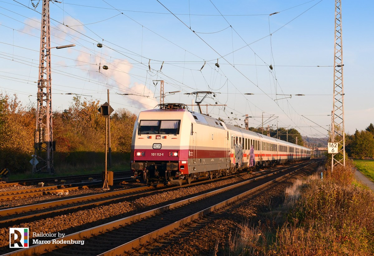 [DE] DB 101 112 - the 'Rheingold' locomotive turned red