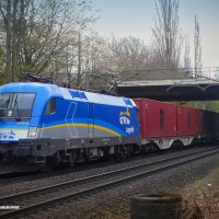 [DE] In the picture: 182 911 now in EVB Logistik design