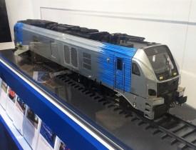 The Stadler Rail EuroDual scale model during InnoTrans 2016. During the event HVLE and Stadler Rail already signed a letter of intent. Photo: Simon Wijnakker