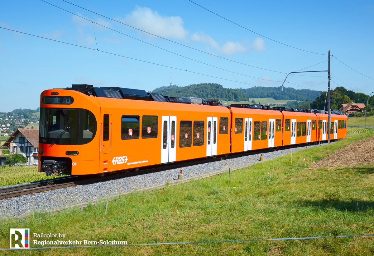 [CH] This is the 'Worbla' - the new EMU for Regionalverkehr Bern-Solothurn