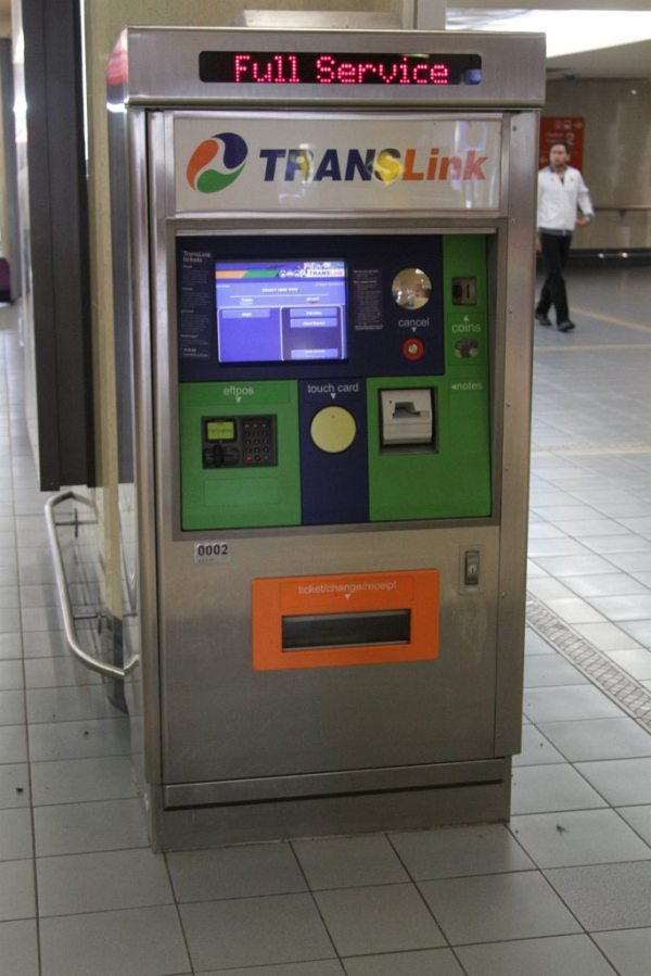 Go Card ticket machine at Roma Street station Wongms