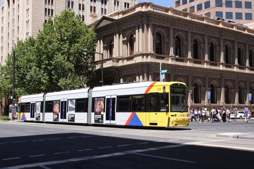 Flexity 112 at Currie and King William Streets