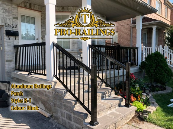 TorontoProRailings-AluminumRailings-R-1-Style-Black-Porch