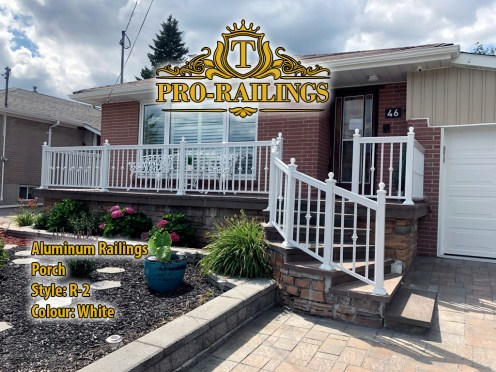 TorontoProRailings-AluminumRailings-R-2-Style-White-Porch