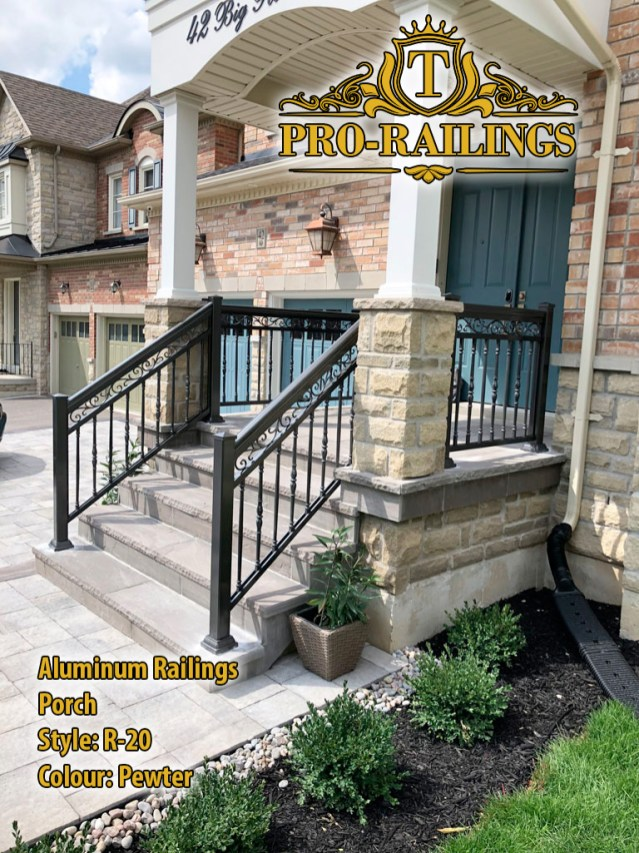 TorontoProRailings-AluminumRailings-R-20-Style-Pewtwer-porch