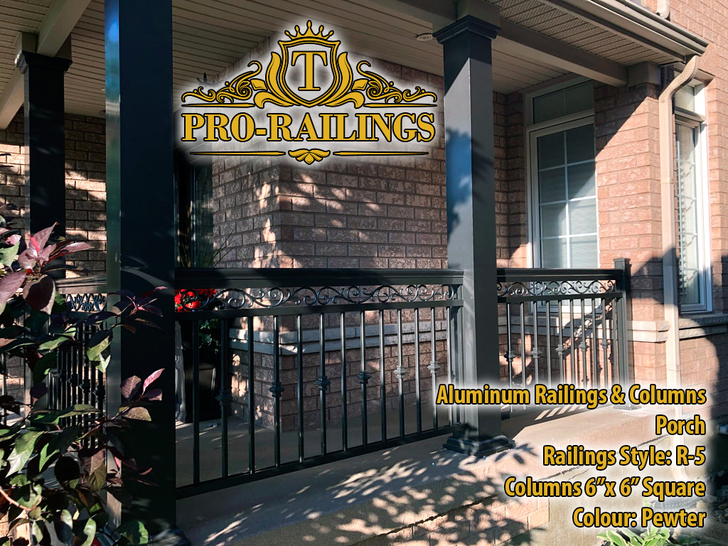 TorontoProRailings-AluminumRailings-R-5-Style-Pewter-with-Smooth-Aluminum-Columns