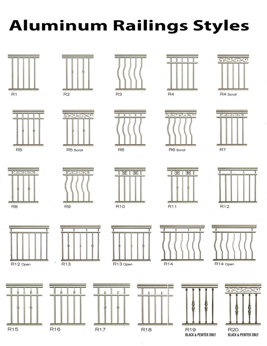 TorontoProRailings-AluminumRailings-Styles1