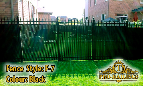 TorontoProRailings-Aluminum-Fence-Style-F-7-Colour-Black