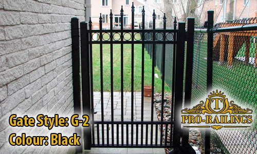 TorontoProRailings-Aluminum-Gate-Style-G-2-Colour-Black