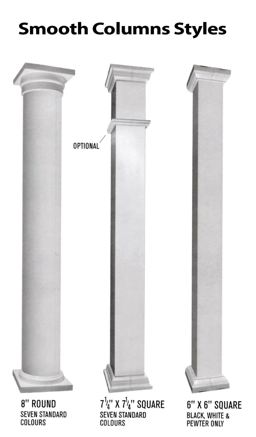 TorontoProRailings-Aluminum-Smooth-Columns-Styles
