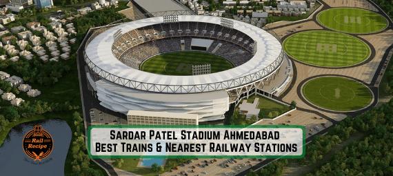 nearest railway station Sardar Patel Stadium Ahmedabad
