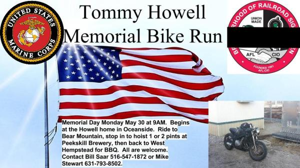 Tommy Howell Memorial Bike Run – BRS Local 56