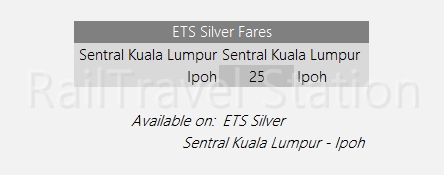 KTM Intercity Fare ETS Silver