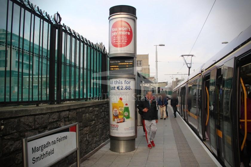 Luas Red Line Heuston Railway Station Smithfield 023