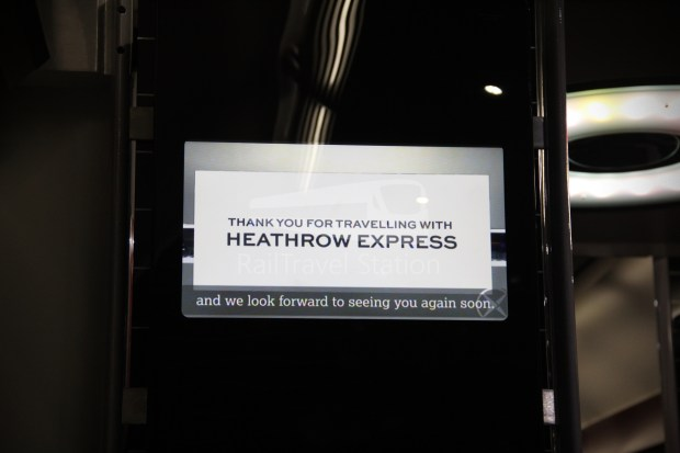 TfL Rail Heathrow Express Terminal 4 Terminal 5 054