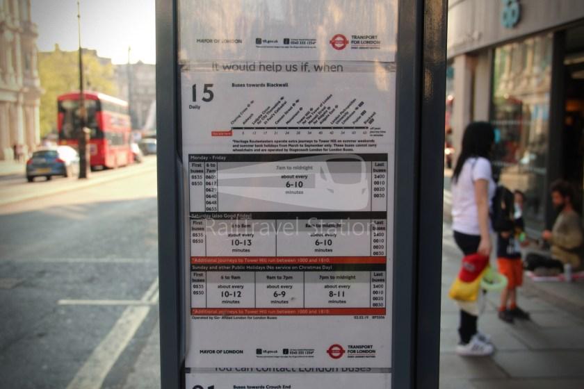 15H (Heritage) Charing Cross Trafalgar Square Tower of London 019