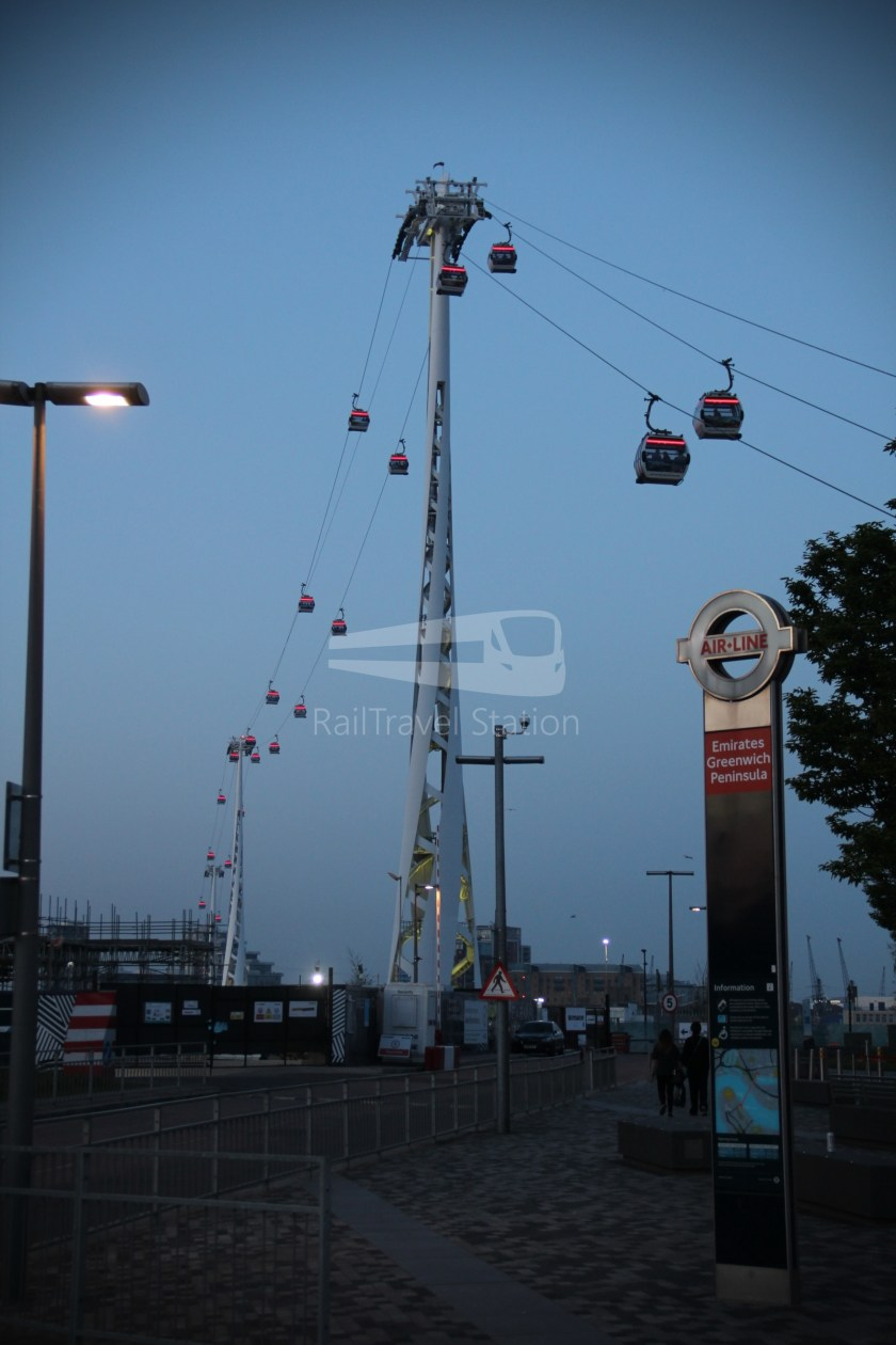 Emirates Air Line Emirates Greenwich Peninsula Emirates Royal Docks Sunset 003