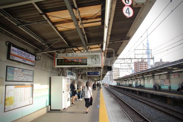 Tobu Skytree Line Local Higashi-Mukojima Asakusa 006